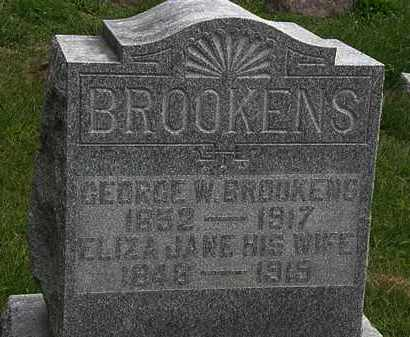 BROOKENS, ELIZA JANE - Morrow County, Ohio | ELIZA JANE BROOKENS - Ohio Gravestone Photos