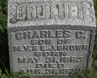 BROWN, CHARLES C. - Morrow County, Ohio   CHARLES C. BROWN - Ohio Gravestone Photos