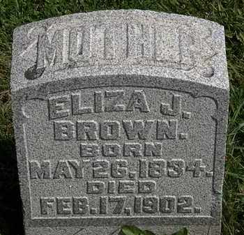 BROWN, ELIZA J. - Morrow County, Ohio | ELIZA J. BROWN - Ohio Gravestone Photos