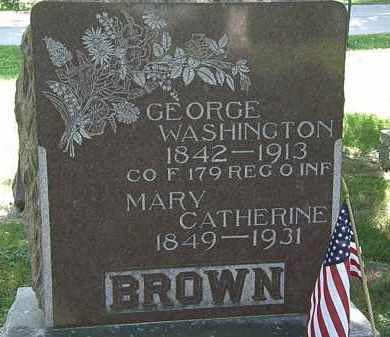 BROWN, MARY CATHERINE - Morrow County, Ohio | MARY CATHERINE BROWN - Ohio Gravestone Photos