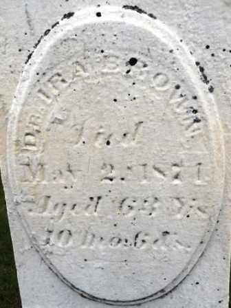 BROWN, IRA - Morrow County, Ohio | IRA BROWN - Ohio Gravestone Photos