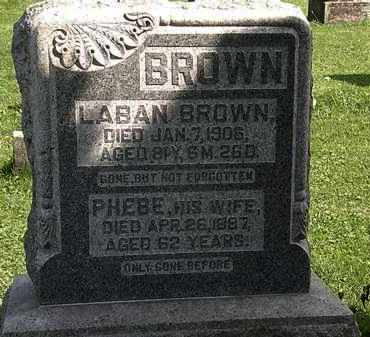 BROWN, PHEBE - Morrow County, Ohio | PHEBE BROWN - Ohio Gravestone Photos