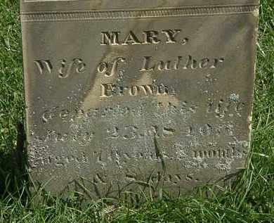 BROWN, MARY - Morrow County, Ohio | MARY BROWN - Ohio Gravestone Photos