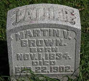 BROWN, MARTIN V. - Morrow County, Ohio | MARTIN V. BROWN - Ohio Gravestone Photos