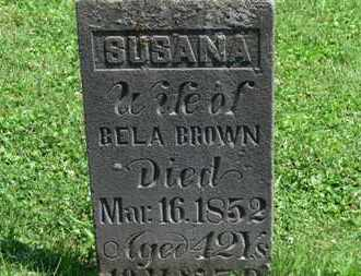 BROWN, SUSANA - Morrow County, Ohio | SUSANA BROWN - Ohio Gravestone Photos