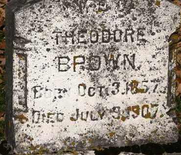 BROWN, THEODORE - Morrow County, Ohio | THEODORE BROWN - Ohio Gravestone Photos
