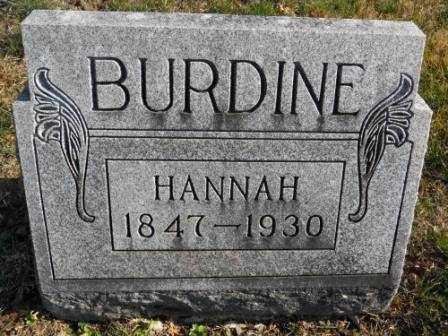 BURDINE, HANNAH - Morrow County, Ohio | HANNAH BURDINE - Ohio Gravestone Photos