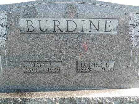 BURDINE, MARY E - Morrow County, Ohio | MARY E BURDINE - Ohio Gravestone Photos