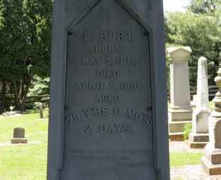 BURT, E. - Morrow County, Ohio | E. BURT - Ohio Gravestone Photos