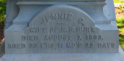 BURT, JENNIE C. - Morrow County, Ohio | JENNIE C. BURT - Ohio Gravestone Photos