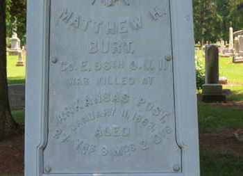 BURT, MATHEW W. - Morrow County, Ohio | MATHEW W. BURT - Ohio Gravestone Photos