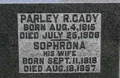 CADY, SOPHRONA - Morrow County, Ohio | SOPHRONA CADY - Ohio Gravestone Photos