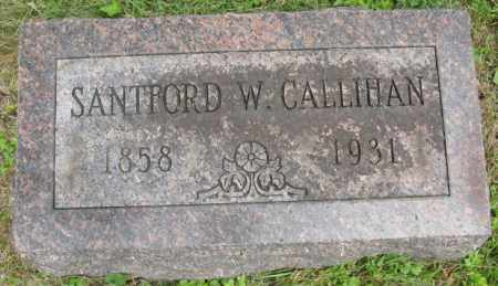 CALLIHAN, SANTFORD - Morrow County, Ohio | SANTFORD CALLIHAN - Ohio Gravestone Photos
