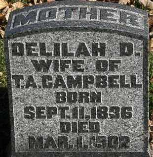 CAMPBELL, DELILAH D. - Morrow County, Ohio | DELILAH D. CAMPBELL - Ohio Gravestone Photos