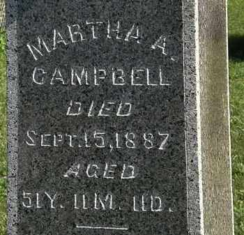 CAMPBELL, MARTHA A. - Morrow County, Ohio | MARTHA A. CAMPBELL - Ohio Gravestone Photos