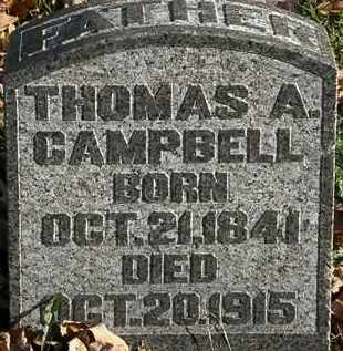 CAMPBELL, THOMAS A. - Morrow County, Ohio | THOMAS A. CAMPBELL - Ohio Gravestone Photos