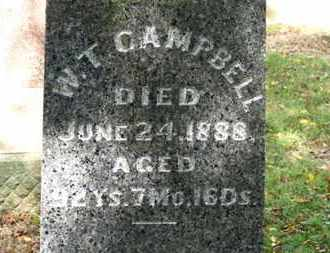 CAMPBELL, W.T. - Morrow County, Ohio | W.T. CAMPBELL - Ohio Gravestone Photos