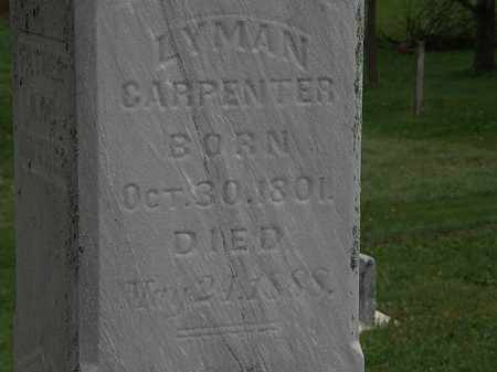 CARPENTER, LYMAN - Morrow County, Ohio | LYMAN CARPENTER - Ohio Gravestone Photos