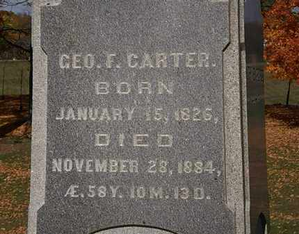 CARTER, GEO. F. - Morrow County, Ohio | GEO. F. CARTER - Ohio Gravestone Photos
