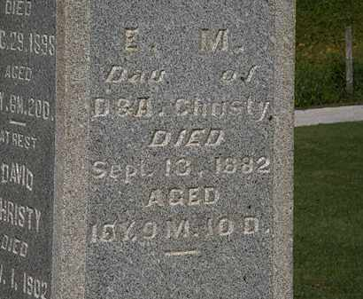 CHRISTY, E. M. - Morrow County, Ohio | E. M. CHRISTY - Ohio Gravestone Photos