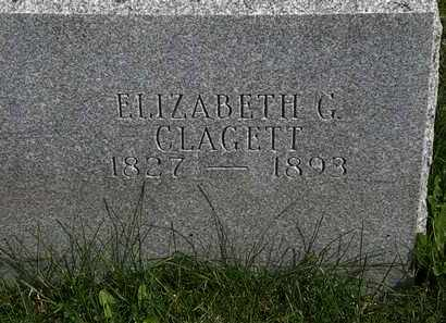 CLAGETT, ELIZABETH G. - Morrow County, Ohio | ELIZABETH G. CLAGETT - Ohio Gravestone Photos