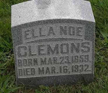 CLEMONS, ELLA - Morrow County, Ohio | ELLA CLEMONS - Ohio Gravestone Photos