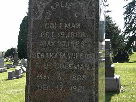 COLEMAN, BERTHA M. - Morrow County, Ohio | BERTHA M. COLEMAN - Ohio Gravestone Photos