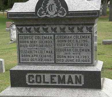 COLEMAN, GEORGE - Morrow County, Ohio | GEORGE COLEMAN - Ohio Gravestone Photos