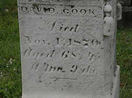 COOK, DAVID - Morrow County, Ohio | DAVID COOK - Ohio Gravestone Photos