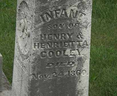 COOLEY, INFANT SON - Morrow County, Ohio | INFANT SON COOLEY - Ohio Gravestone Photos
