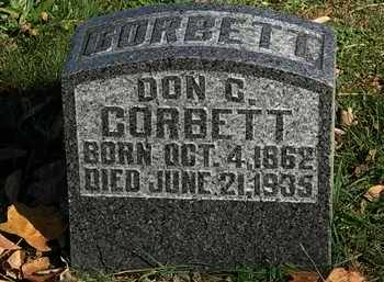 CORBETT, DON C. - Morrow County, Ohio | DON C. CORBETT - Ohio Gravestone Photos