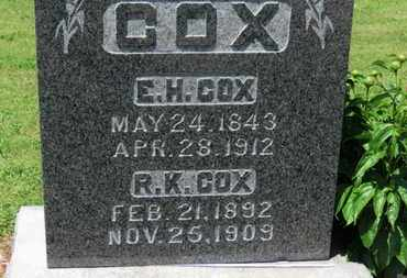 COX, R.K. - Morrow County, Ohio | R.K. COX - Ohio Gravestone Photos