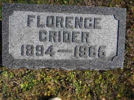 CRIDER, FLORENCE - Morrow County, Ohio | FLORENCE CRIDER - Ohio Gravestone Photos