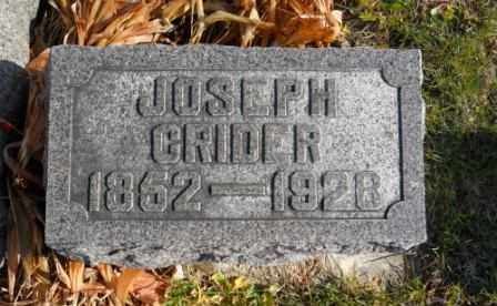 CRIDER, JOSEPH - Morrow County, Ohio | JOSEPH CRIDER - Ohio Gravestone Photos