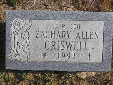 CRISWELL, ZACHARY - Morrow County, Ohio | ZACHARY CRISWELL - Ohio Gravestone Photos