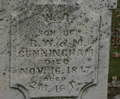 CUNNINGHAM, ??? - Morrow County, Ohio | ??? CUNNINGHAM - Ohio Gravestone Photos