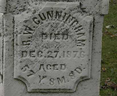 CUNNINGHAM, R.W. - Morrow County, Ohio | R.W. CUNNINGHAM - Ohio Gravestone Photos