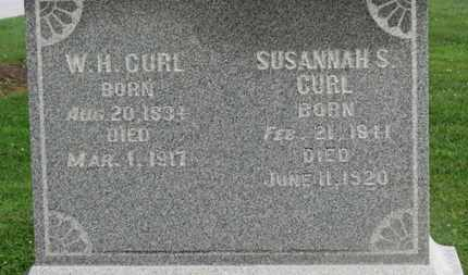 CURL, SUSAH=NNAH S - Morrow County, Ohio | SUSAH=NNAH S CURL - Ohio Gravestone Photos
