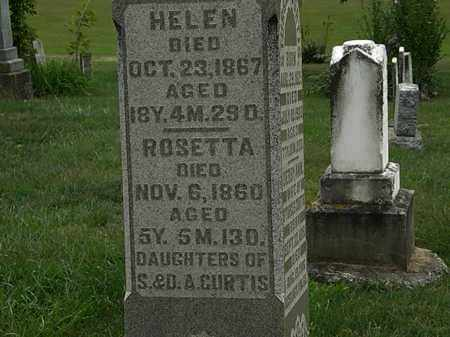 CURTIS, HELEN - Morrow County, Ohio | HELEN CURTIS - Ohio Gravestone Photos