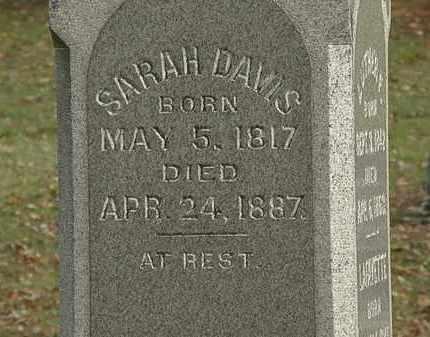 DAVIS, SARAH - Morrow County, Ohio | SARAH DAVIS - Ohio Gravestone Photos