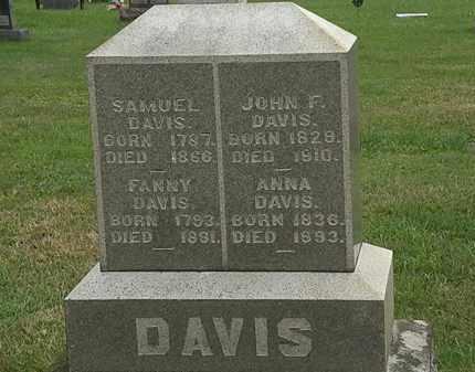 DAVIS, SAMUEL - Morrow County, Ohio | SAMUEL DAVIS - Ohio Gravestone Photos