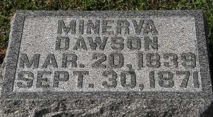 DAWSON, MINERVA - Morrow County, Ohio | MINERVA DAWSON - Ohio Gravestone Photos