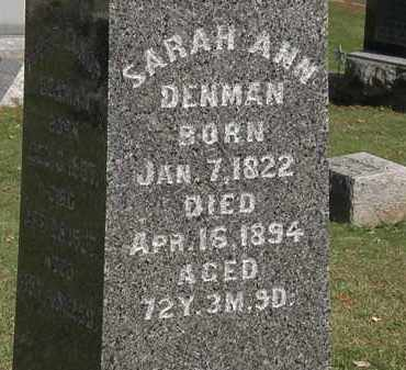 DENMAN, SARAH ANN - Morrow County, Ohio | SARAH ANN DENMAN - Ohio Gravestone Photos