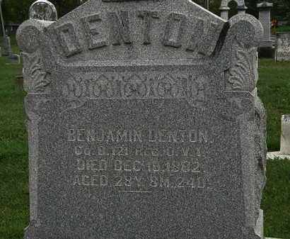 DENTON, BENJAMIN - Morrow County, Ohio | BENJAMIN DENTON - Ohio Gravestone Photos