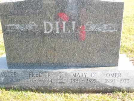 "DILL, AVALEE ""CURLY"" - Morrow County, Ohio 