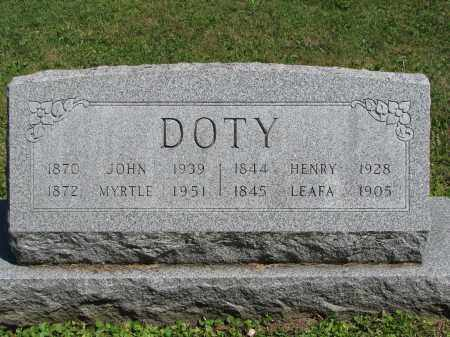 DOTY, HENRY - Morrow County, Ohio | HENRY DOTY - Ohio Gravestone Photos