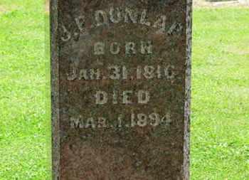 DUNLAP, J.F. - Morrow County, Ohio | J.F. DUNLAP - Ohio Gravestone Photos