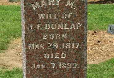 DUNLAP, MARY M. - Morrow County, Ohio | MARY M. DUNLAP - Ohio Gravestone Photos