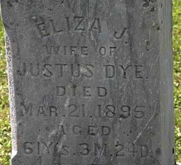 DYE, ELIZA J. - Morrow County, Ohio | ELIZA J. DYE - Ohio Gravestone Photos