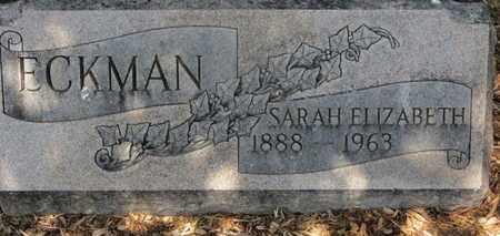 ECKMAN, SARAH ELIZABETH - Morrow County, Ohio | SARAH ELIZABETH ECKMAN - Ohio Gravestone Photos